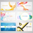 Stock Vector: Business visiting card collection