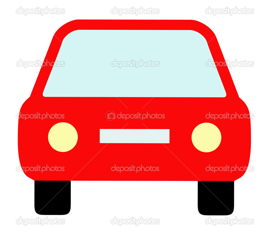 Car geamse,Child has drawn car on a white background  Stock Photo #6920311