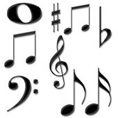 Music notes symbols — Stock Photo