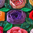 Stock Photo: Patchwork quilt with flowers