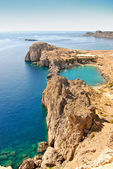 Lindos - St.Pauls Bay — Stock Photo