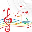 Stock Vector: Love music