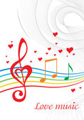Love music — Stock Vector