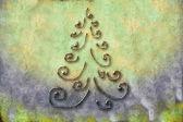 Tarjetas de árbol de navidad — Foto de Stock