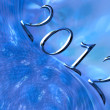 Happy New Year 2012 Christmas background — Stock Photo