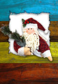 Christmas santa postcard — Stock Photo