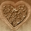 Royalty-Free Stock Photo: Vintage valentine card, sepia heart background
