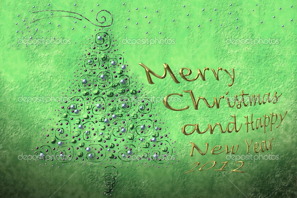 Background and text fir Christmas greeting in gold — Stock Photo #6937121