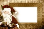 Christmas card santa — Stock Photo