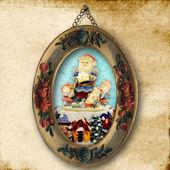Vánoční pohlednice, santa starověké obrázek — Stock fotografie