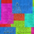 Merry christmas card, letter tree — Stock Photo