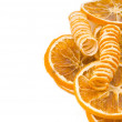 Orange flavoring background isolated — Stock Photo