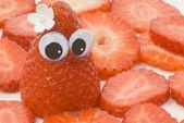 Veselá jahody — Stock fotografie