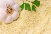 Broodkruimels met knoflook en peterselie — Stockfoto