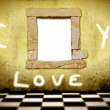 Picture frame i love you — Stock Photo