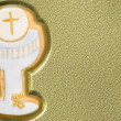 First communion chalice background — Stock Photo