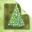 Christmas tree card — Stock Photo