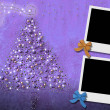 Stock Photo: Christmas Cards from two photo frames