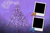 Christmas Cards from two photo frames — Stock Photo