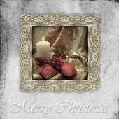 Gamla kort jul ljus och gåvor — Stockfoto