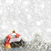 Christmas card red ball — Stockfoto
