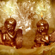 Candlelight Christmas angels - Stock Photo