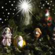 Holy Family Christmas Cards and three wise men — Foto Stock