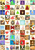 Christmas greeting cards, collage vertical — Stock Photo