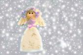 Sweet angel of Christmas — Stock Photo