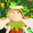 Christmas Angel in bright green background — Photo #7942491