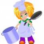 Little cook — Stock Vector #7763623