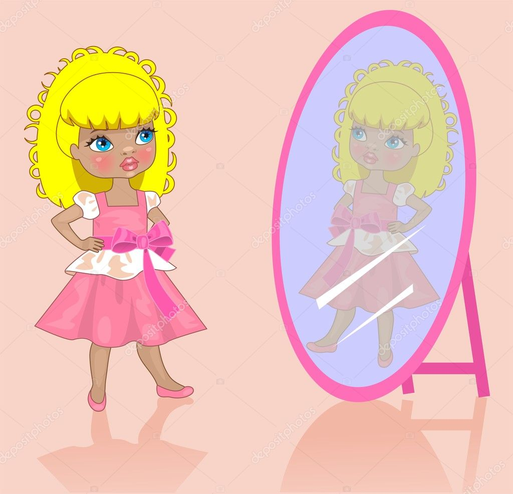 Рисунки на зеркало девочка