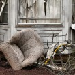 House damaged by disaster - Stock Photo