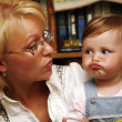 Little girl with mum — Stock Photo