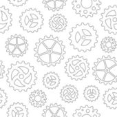 Gearwheels Seamless Background — Stock Vector