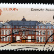 Royalty-Free Stock Photo: Stamp showing the facade of a palace in Frankfurt