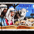 Royalty-Free Stock Photo: Stamp shows a meeting of the Nativity