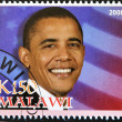 Stamp with Barack Obama - 图库照片