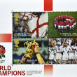 Stamp shows English rugby team world champion — Stock Photo