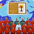 Stamp showing Spanish football World Cup Champion 2010 FIFfootball — Stockfoto #6904685