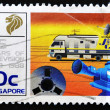 Royalty-Free Stock Photo: Stamp shows 25 Years of Television in Singapore