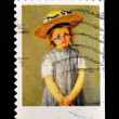 Royalty-Free Stock Photo: Stamp shows an artwork by Mary Cassatt