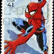 Постер, плакат: Stamp with spiderman