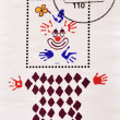 Royalty-Free Stock Photo: Stamp shows drawing a clown
