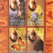 Stamp commemorating the bicentennial of the birth of Charles Darwin — Stock Photo