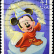 Stamp with Mickey mouse in disney movie fantasy - Stock Photo