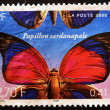 Stamp showing a butterfly, papillon sardanapale — Stock Photo