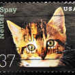 Royalty-Free Stock Photo: Stamp shows image cat