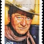 Stamp with John Wayne — Stock Photo