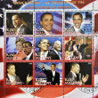 Stamp with Barack Obama - Stok fotoraf
